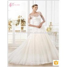 2017 новый дизайн с длинным рукавом платье сексуальная русалка свадебное платье