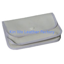 White Pvc Leather Makeup Bags / Customized Travel Wallet Style