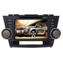 2DIN coches reproductor de DVD aptos para Toyota Lander alta Highlander 2008-2014 con el Radio Bluetooth estéreo TV GPS sistema de navegación