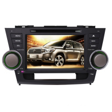 2DIN Car DVD Player Fit for Toyota High Lander Highlander 2008-2014 with Radio Bluetooth TV Stereo GPS Navigation System
