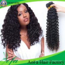 Cabelo 100% indiano do Virgin / cabelo profundo da onda / extensão cabelo humano de Remy