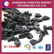 Concha de nogueira com carvão ativado com grande área de superfície