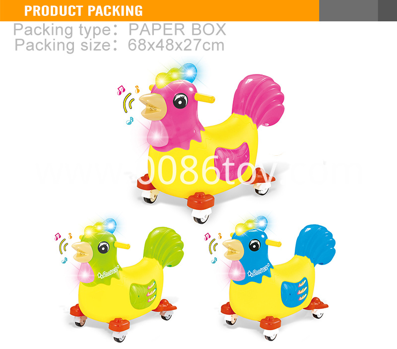 aying egg rooster walking animal ride on toy4