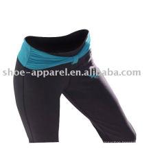 La yoga al por mayor de la aptitud del poliéster Spandex jadea a mujeres, pantalones de la gimnasia