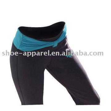 Оптовая полиэстер спандекс фитнес йога брюки женщины тренажерный зал брюки