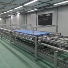 Línea de montaje del sistema de transporte de rodillos de gravedad automático