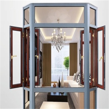Aluminum Casement Window with Security Screen