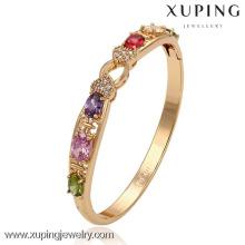 51317-Joyería Xuping Moda brazaletes de oro 18K con piedra de colores
