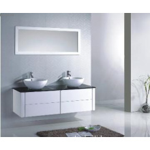 Wall mounted modern cabinet with double sink