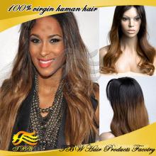 6a grade beautiful virgin brazilian hair half wig