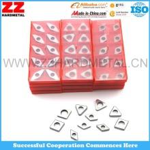 Calços de carboneto para inserções CNC