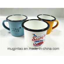 Carbon Steel Rolling Rim Enamel Mug
