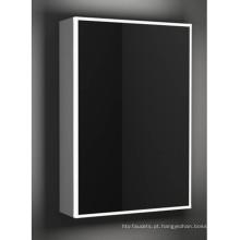 Armário iluminado do espelho do banheiro da liga de alumínio