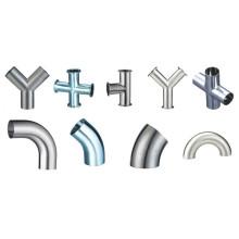 Raccords de tuyaux soudés sanitaires 3A / Dn / Bpe en acier inoxydable