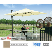 fancy deluxe wooden outdoor hanging umbrella for sale