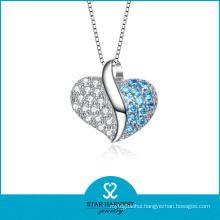 European Fancy Heart Style Silver Pendant (N-0124)