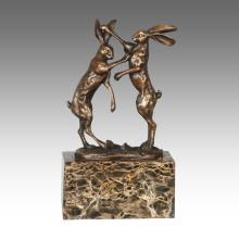 Статуя Кролика Украшения Из Бронзы Tpal-323 Животных Скульптура