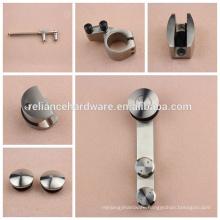 Reliance barn door hardware with heavy duty door bearing & silence working function