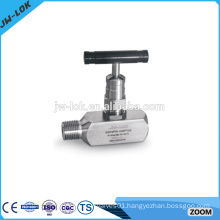 Tube compression fittings angle air operate needle valve