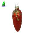 fake glass vegetable ornament chili shape Christmas