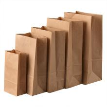 Custom made take away fast food kraft paper bag