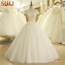 Сл-203 vestido де noivas alibaba Китай на заказ свадебное платье 2017