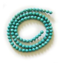 Perles rondes Turquoise 5MM