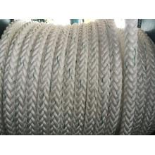 Corde de fibre de corde de polyester de corde de polyester de corde de corde de 12 cordes de cordage d'amarrage