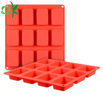 Silicone Soap 12 Cavity Rektangel Bar Tvål