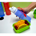 Foldable Silicone Sports Bottle With Nozzle Lid