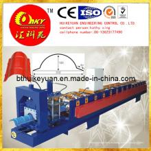 Máquina perfiladora de tanques de agua de acero HMI y PLC