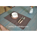 Дешевые сплошной цвет подставка для столовых приборов ужин коврики комплект де стол коврик чаши