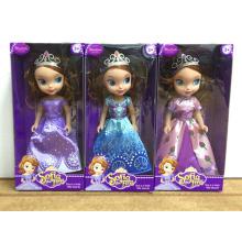 """Boneca brinquedo princesa Sofia 9 """"com coroa 3 Assted (h9538256)"""