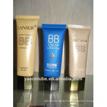 Tubo cosmético plástico para embalagem de cosméticos