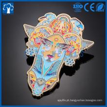 logotipo de esmalte duro duro personalizado logotipo emblema de lapela de metal
