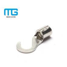 Lug de terminal de gancho elétrico não-isolado de cobre direto do negócio com AWG12-10