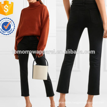 Cropped High-rise Straight-leg Jeans Manufacture Wholesale Fashion Women Apparel (TA3059P)