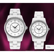 Польностью керамический Кварцевые часы с топ-кольцо из нержавеющей стали и 2 слой Циферблат