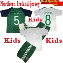 Nuevo 2016 2017 Irlanda del Norte Home and Away Jersey de fútbol para niños