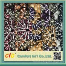 Moda nova impressão design colorido e vácuo assorted em relevo barato couro pvc para decorações