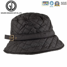 High Fashion Classic Diamond Quilted Ladies Bucket Hat
