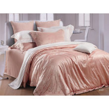 Customized Comfort Natural Silk Bright Luxury Bed Sets For Wedding