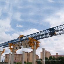 Truss type with trolley to lifting bridge beam launching girder crane