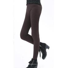 Womens velours à l'intérieur d'hiver épais Seamless Pattern Leggings