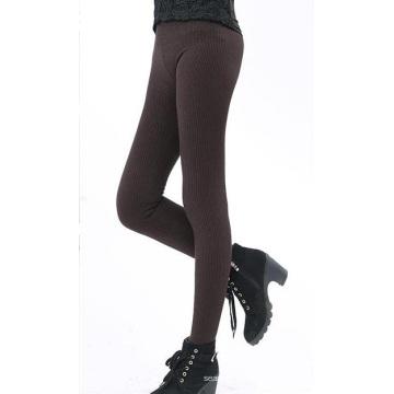 Womens veludo dentro inverno grosso sem costura padrão Leggings
