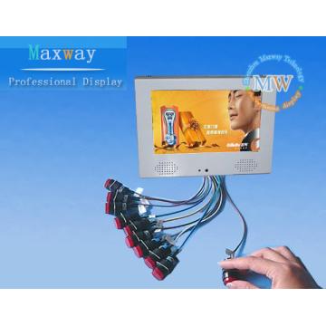 Reproductor de publicidad lcd de 7 pulgadas con botones externos