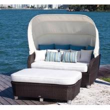Garden Outdoor Rattan Patio Furniture Wicker Daybed