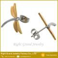 Boucles d'oreilles en acier inoxydable pendentif bijoux or Dragonfly gros bijoux mis en dernière conception