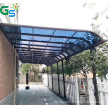 Guansu Hot Selling Porch Deck Aluminum Canopies Canopy Awning Outdoor Sunshade Blue Plastic Sheet Panel