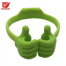 Silicone Mobile phone Holder Thumbs Modeling Phone Stand Bracket Holder Mount for Cell phone Tablets Universal